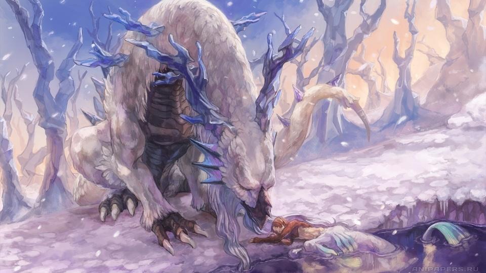 Картинки дракон зимой на рабочий стол